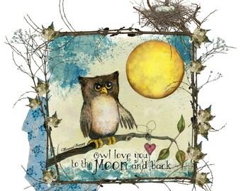 Owl Love You . . . Handmade Loose Canvas.