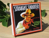 Small Journal - Straight Shooter Brand Citrus - Fruit Crate Art Print Cover