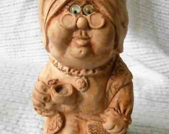 Vintage American Greetings Corp. Wise Guys World's Greatest Grandma Figurine Made USA No. 32 Googly Eyes