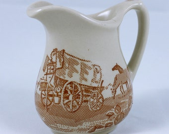 "Wallace China ""Chuckwagon"" Creamer 1940's"