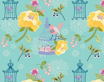 Lulabelle Main in Mint Fabric by Riley Blake - 1 Yard