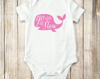 Whale, onesie, baby, clothing, nautical, shirt, tops, bodysuit, children