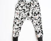 mickey mouse leggings / toddler harems / hipster baby clothes / cloth diaper