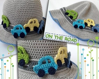 ON THE ROAD baby hat crochet pattern! Baby hat crochet pattern. Permission to sell finished items. Pattern No. 172