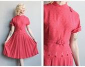 1950s Dress // Miss Olson Swiss Dot Dress // vintage 50s dress