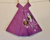 Large Origami Dress Purple Sisters Forever Princess snowflakes theme
