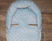 Headrest, Blue Minky  infant headrest, head support, baby headrest, Ships Today- Only 2 left