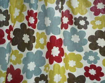 4 Red Green Napkins Funky Retro Blue Floral Fabric washable ANY of MY DESIGNS