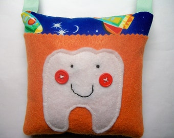 Boys Tooth Fairy Pillow Rockets in Space