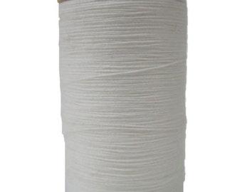 Organic Cotton Thread, 300 yards/spool, Multi-Purpose, GOTS Certified, Eco-Friendly Dye, White