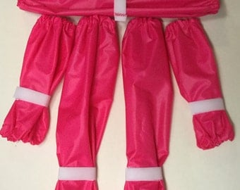 Candy Pink Dog Leg Protectors 5 piece Standard Poodle set made and ready to ship