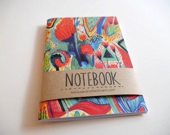 Notebook, Jotter, Mini Sketchbook | Wild Flowers