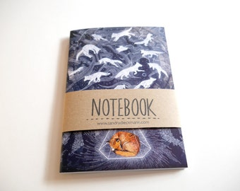Notebook, Jotter, Mini Sketchbook | Ghosts