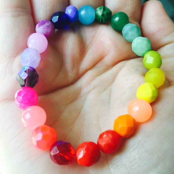 Rainbow Colorful Beaded Bracelets Supporting Human Rights Campaign. Support  Equal Rights for LGBTQ Community With Purchase