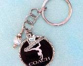 Gymnastics Girl  Gym Mom Sport Gym Coach  Photo Pendant Keychain, Jewelry Charm, Gymnastics Gift