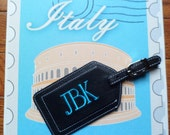Leather Luggage Tag Monogrammed Gift Bridesmaids Personalized Christmas thirteen colors