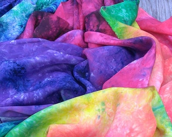 Rainbow Swirl Nebula Galaxy Play Silk ~ Silk Scarf ~ Hand Dyed ~Waldorf Inspired!