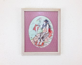 paper planes // FRAMED ORIGINAL 9 x 12 in. matted watercolor painting