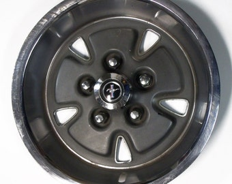 Vintage 1970 Ford Mustang Hubcap Hub Cap Wheel Cover - 1970's Retro Automotive Part - Wall Hanger - Wall Decor - SALE