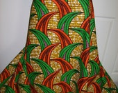 6 Yards Orange and Green African Print Wholesale/ African print fabrics/ African clothing/ Ankara Wholesale fabrics