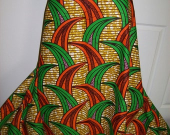 6 Yards Orange and Green African Print Wholesale/ African print fabrics/ African clothing/ Ankara Wholesale fabrics