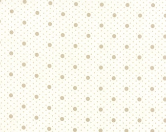 Miss Scarlet - Polka Dot in Tonal Ivory by Minick & Simpson for Moda Fabrics