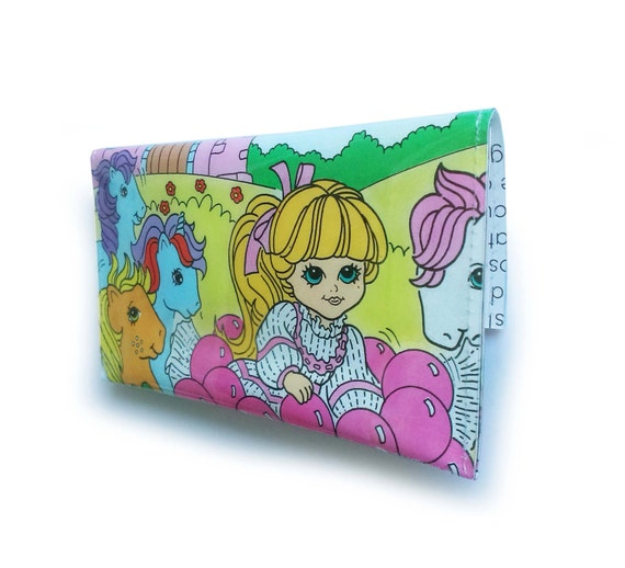 My Little Pony Purse - Vintage Recycled Book Page in Vinyl - 1980's Generation 1