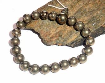 Pyrite Wrist Mala Bracelet earthegy