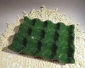 Green egg tray