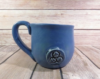 Blue Biohazard mug