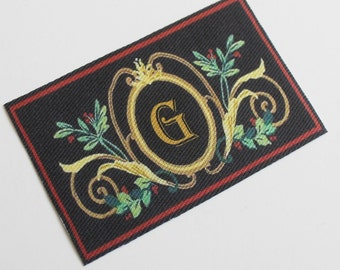 Miniature Doormat With Your Initial in Dollhouse or Playscale