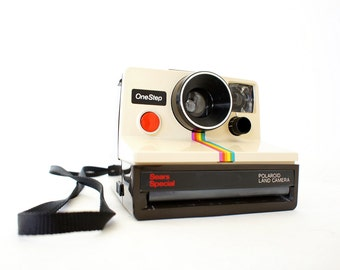 Rare Sears Special Polaroid Camera SX-70 Rainbow OneStep - Film Tested Working