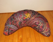 Zafu meditation pillow kidney shaped Buck Wheat or Cotton filled cushion