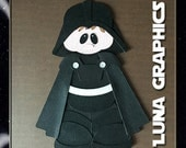 DARTH VADER Embellishments Paper Piecing card making and scrapbooking