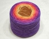 Gradient yarn silk yarn mulberry silk yarn laceweight yarn handdyed yarn 50-51g (1.8oz) - Autumn festival