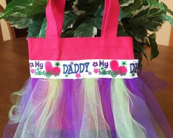 My heart belongs to daddy mini tutu tote