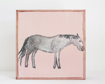 farmhouse nursery art, horse print, copper nursery decor, barnyard animals, animal prints, nursery decor, farm nursery, pony, redtilestudio