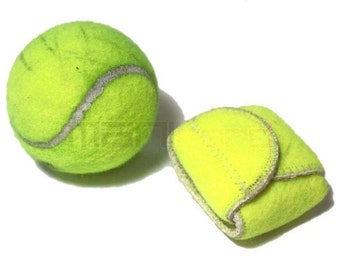 Handmade Recycled Tennis Ball Mini Bag/ Change Holder
