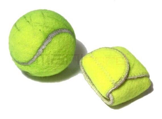 Handmade Recycled Tennis Ball Mini Bag/ Change Holder