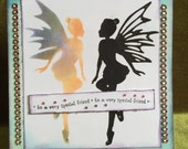 Happy birthday fairy friend or sister card