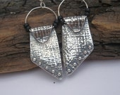 Plain and Simple Revisited - Fine Silver and Seed Bead Earrings - PMC Earrings