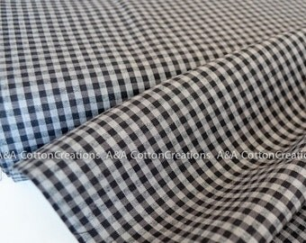 ORGANIC Shadow Midnight Plaid Cotton Fabric, Quilting Fabric, Yarn Dye Fabric, Apparel Fabric, Checks Please Collection from Cloud9 Fabrics