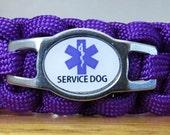 Service Dog Bracelet, Medical Alert Bracelet, Survival Bracelet