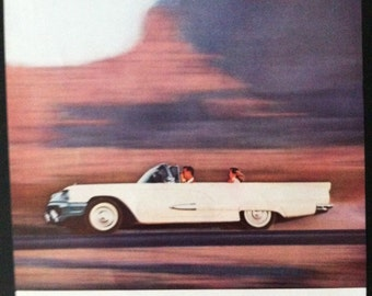 Vintage Thinderbird Car Ad 1950's