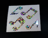Rare Hambly Stickers: Music Notes - Collection Vintage Glitter Retired Hard to Find New Collector Silver Sheet Musical Instrument Teacher