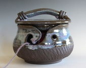 Yarn Bowl, Kitty-Proof Yarn Bowl, cat yarn bowl, ceramic yarn bowl, knitting bowl, yarn holder, As featured in SIMPLY KNITTING MAGAZINE