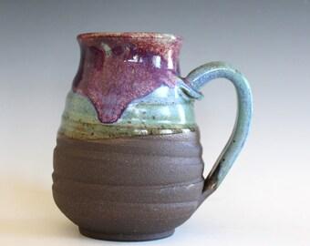 Extra Large Mug, 23 oz, unique coffee mug, handmade ceramic cup, handthrown mug, stoneware mug, wheel thrown pottery mug, ceramics