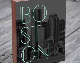 Boston Skyline - Boston Art - Boston Artwork - Boston Wall Art