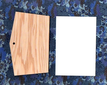 Cedar wood blank etegami boards for New Years and other special ocassions (3-board set)