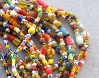 Ghana Glass Beads -6 Strands